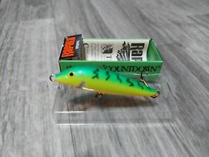 RARE RAPALA COUNTDOWN 7 FT VINTAGE CD-07 FIRE TIGER NIB CD 07 FISHING LURE NOS