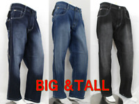 Big & Tall Men Denim Jean Pants Southpole 4180 Relaxed Fit 4 Color Size 44-52