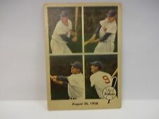 1959 Feer Ted Williams August 30th 1958 Card # 65