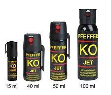 NEU PFEFFER Ballistol K.O. SPRAY JET 15, 40, 50, 100 ml Tierabwehr Reizgas
