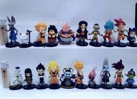 20pcs Dragon Ball Super Rose God Black Goku Vegeta Sets Action Figures Model Toy