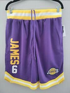 Los Angeles Lakers Lebron James #6 NBA Brand Shorts Men Size M New Bball Purple