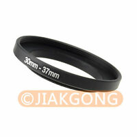 30mm-37mm 30-37 mm Step Up Ring Filter Adapter Black