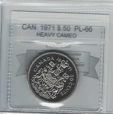 **1971**, Coin Mart Graded Canadian 50 Cent, **PL-66 Heavy Cameo**