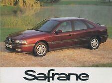 1997 Renault Safrane Manuel Owner's manual la Notice D 'UTILISATION