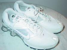 2008 Mens Nike Shox Turbo 8 SL White/Metallic Silver Running Shoes! Size 13