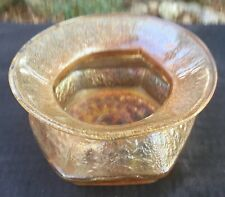 """CARNIVAL MARIGOLD HOBNAIL SODA GOLD SPITTOON BY IMPERIAL """"NICE COLOR"""""""