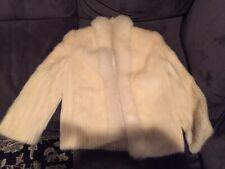 Vintage Jacques Aran Cream Colored Dress Mink Coat/Cape/Stole Size Small S