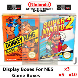 Thick GAME BOX PROTECTORS Cases For Nintendo Entertainment System NES BOXED