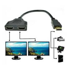 30CM HDMI Male to 2x HDMI Double Female Y Splitter Adapter Cable Lead HD TV New