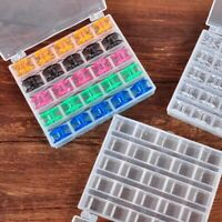 25 Spools Bobbins + Empty Case Box Clear Storage Organizer For Sewing Machine