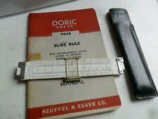 Vintage 1950's K&E Doric 9068 Pocket Slide Rule w/ Manual & Case Keuffel & Esser