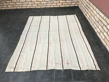 "Turkish Stripe Floor Hemp Rug,7'2""x5'2.5"" ft,Floor Area Turkish Rug,Hemp Rug"