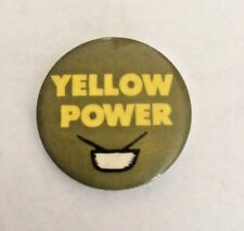 "Vintage 1960's ""YELLOW POWER"" Pinback Button"