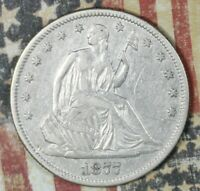 1877-S SEATED LIBERTY SILVER HALF DOLLAR COLLECTOR COIN FREE SHIPPING