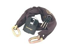 Neilsen 65mm Padlock - 10mm x 1M Chain with fabric sleeve 3 Keys Secure Bike 106