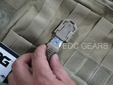 "Military Knife Pocket Shiv Adapter Knuckles MOLLE 1"" System Self Defence #KHAKI"