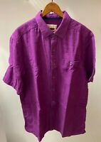 The Territory Ahead Vintage Men's Large Short Sleeve Button Front Purple Shirt