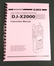 Alinco DJ-X2000 Instruction Manual - Comb bound & protective covers !