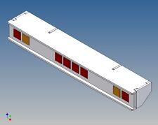 BFL4 - Leuchtbalken (Backfire) mit LEGO 2-4-2 Anordnung M1:14