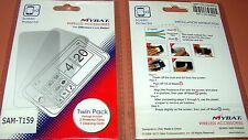MyBat Twin Pack screen protector film for Samsung T159, X2