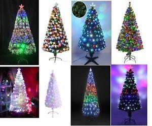 Fibre Optic Christmas Tree Xmas LED Lights Multi Colour Changing 3FT/5FT/6FT/8FT