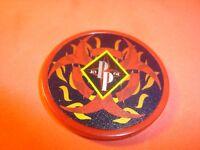 BIOHAZARD-FLAMES design Poker Chip Golf Ball Marker-Card Guard 11.5 gm RED  NEW