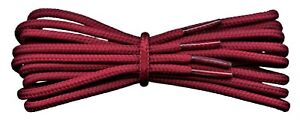 Burgundy Boot Laces - 4 mm round - ideal for work or hiking boots Dr Martens