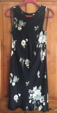 Next black floral dress - Size UK14 - rarely worn - purchased approx 1995