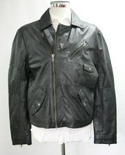 Men's Unbranded Black Real Leather Jacket (M)..Sample 4281