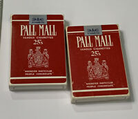 VTG Pall Mall Cigarette Playing Cards Lot of 2 Ephemera Craft Collage Adverts