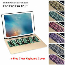 "NEW iPad Pro 12.9"" Aluminum Bluetooth Backlit Keyboard Case Gold"
