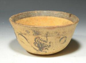 Pre Columbian Maya Pottery Polychrome Monkey Bowl Late Classic Ca 600 to 900 AD