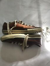 LEATHER Chuck Taylor All Star Converse Low Brown Chesnut BEAUTIFUL Mens 7.5