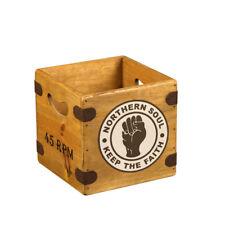 """Northern Soul Record Box 7"""" Single Wooden Crate Records Retro Mod Lambretta"""
