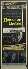 HOUSE OF USHER 1960 ORIG. MOVIE POSTER 14X36 R. CORMAN VINCENT PRICE MARK DAMON