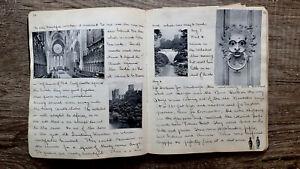 CIRCA 1902 HANDWRITTEN TRAVEL DIARY STEAMSHIP SMITH COLLEGE HUSBAND ARTIST 78pp