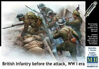 British Infantry Before the Attack, WWI era  1/35 MasterBox 35114