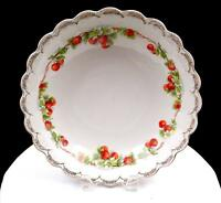 "EMPIRE CHINA #4155 CHERRIES AND GOLD FLORAL SWAG 10 5/8"" BOWL"
