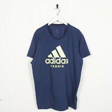 Vintage ADIDAS Tennis Big Logo T Shirt Tee Blue | XL