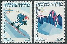 1970 ITALIA MONDIALE SCI ALPINO MNH ** - ED