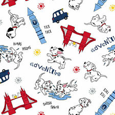 Fat Quarter chiens Print Craft 100/% coton quilting tissu UK gris chien caniche