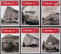 RAF Royal Air Force Centenary £7.36 FV MNH Aircraft Stamp Set (2018 Gibraltar)
