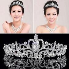 Womens Princess Bridal Metal Rhinestones Tiara Crown Headband Hair Band Wedding
