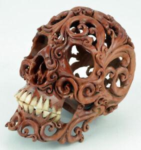 Schädel, Totenkopf, Skull aus Hartholz, Gothic
