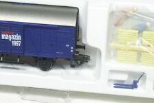 H0 ged. Güterwagen Märklin Magazin m. Figuren + Hubwagen 48752 NEU OVP
