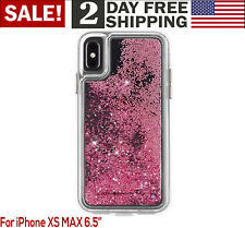 iPhone Apple XS Max Case 2018 Glitter Bling Sparkle Shiny Pink Phone Cover Women