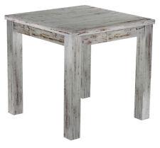 Esstisch shabby Eiche antik Holz Pinie massiv Tisch 80x80