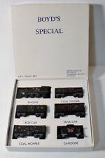 Boyd's Special BLACK CHRISTMAS TRAIN SET Mint in Original Box