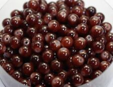 100pcs Dark brown Round Glass Beads Spacer Bead Jewelry Accessories 8mm DF426